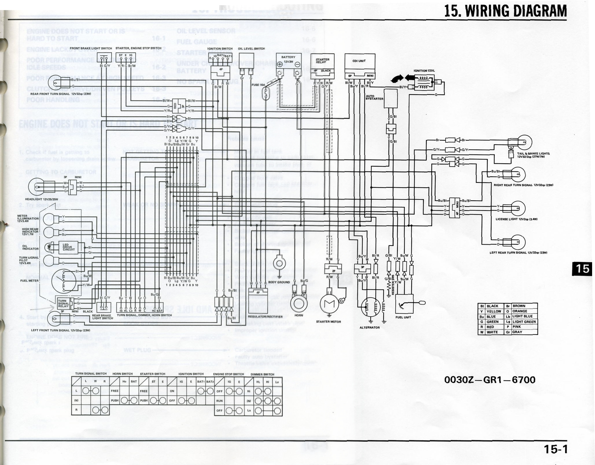 Honda Elite  Se50  Service Manual  1987
